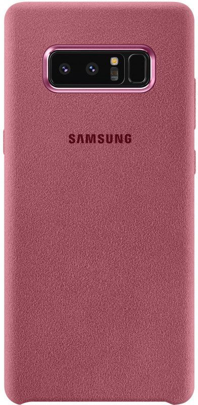 Чехол (клип-кейс) SAMSUNG Alcantara Cover Great, для Samsung Galaxy Note 8, розовый [ef-xn950apegru] protective silicone back case w stand for samsung galaxy note 3 translucent grey white