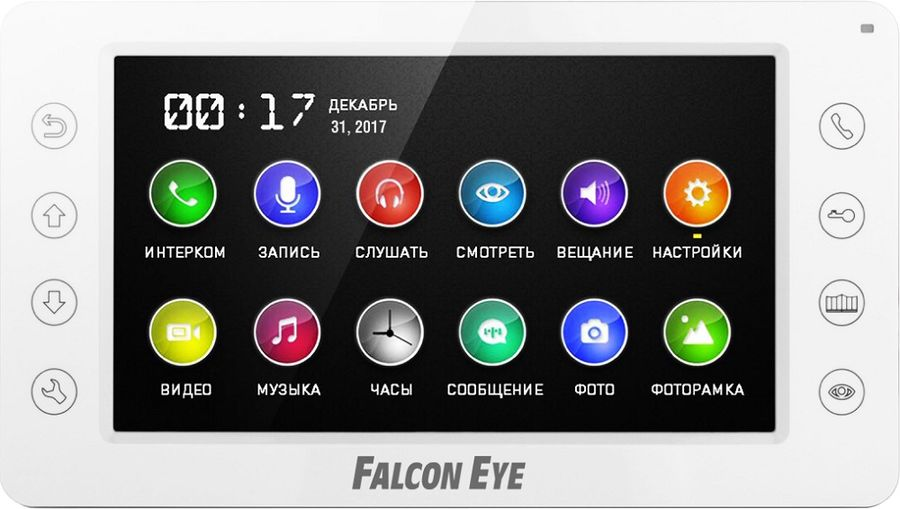 Видеодомофон FALCON EYE FE-70CH ORION DVR, белый