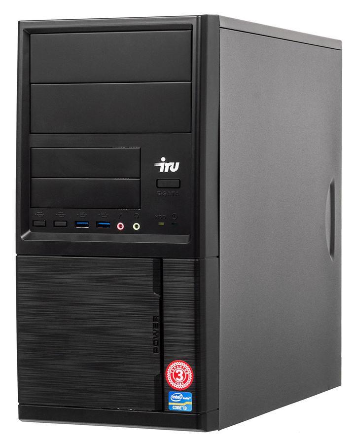 Компьютер  IRU Home 313,  Intel  Core i3  7100,  DDR4 8Гб, 120Гб(SSD),  Intel HD Graphics 630,  Windows 10 Home,  черный [495822]