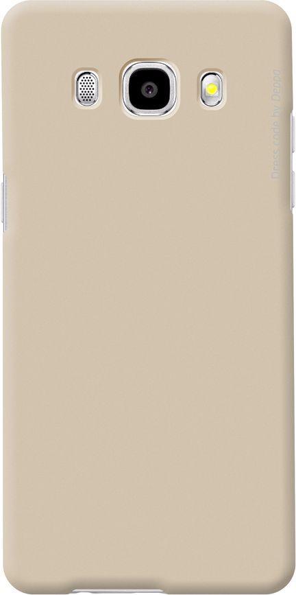 Чехол (клип-кейс) DEPPA Air Case, для Samsung Galaxy J5 (2016), золотистый [83252]