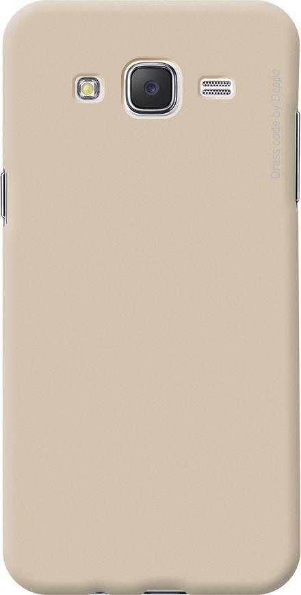 Чехол (клип-кейс) DEPPA Air Case, для Samsung Galaxy J7 (2016), золотистый [83255]
