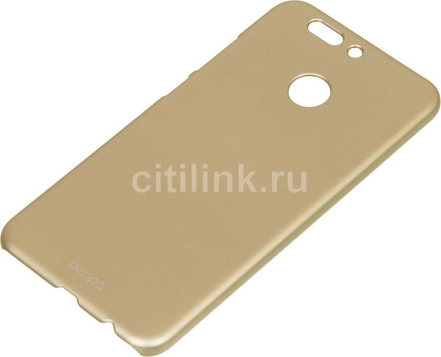 Чехол (клип-кейс) DEPPA Air Case, для Huawei Honor 8 Pro, золотистый [83316]