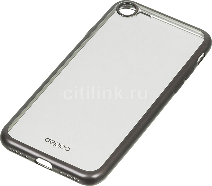 Чехол (клип-кейс) DEPPA Gel Plus Case, для Apple iPhone 7/8, черный [85281] apple чехол клип кейс apple для apple iphone 7 mmy52zm a черный