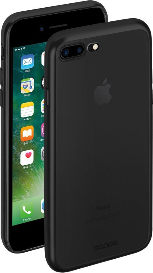 Чехол (клип-кейс) DEPPA Gel Plus Case, для Apple iPhone 7 Plus/8 Plus, черный [85286] чехол deppa gel plus case для apple iphone 7 iphone 8 золотой 85256