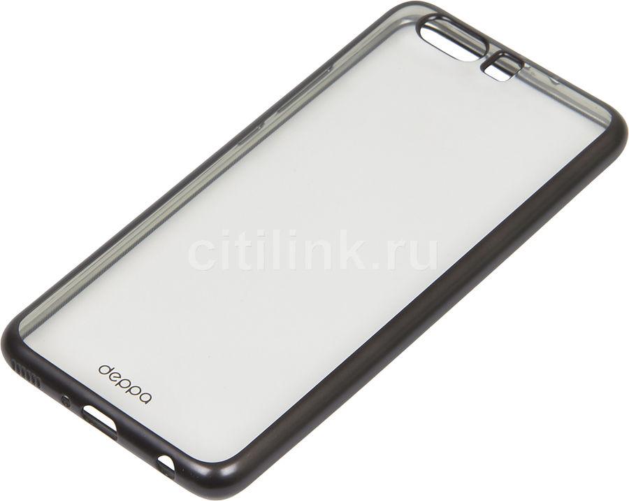 Чехол (клип-кейс) DEPPA Gel Plus Case, для Huawei P10 Plus, черный [85326]