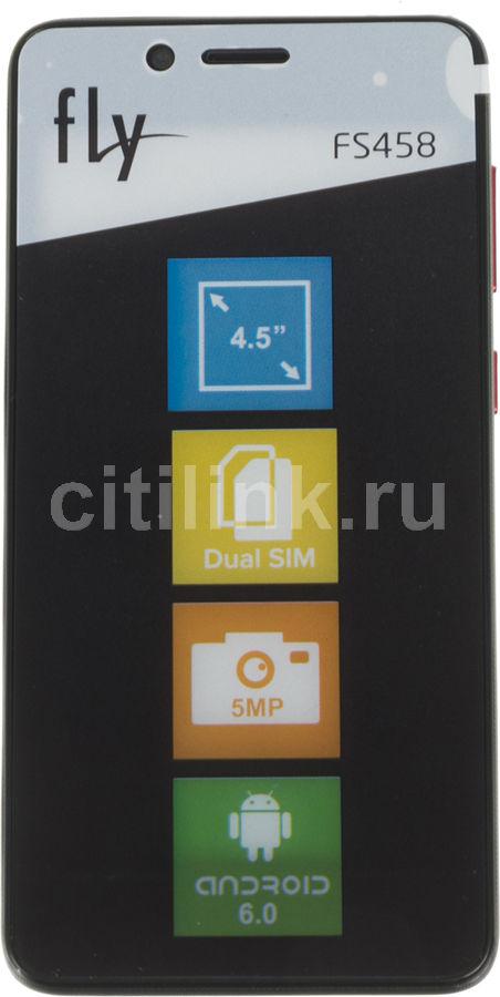 Смартфон FLY Stratus 7 FS458,  черный
