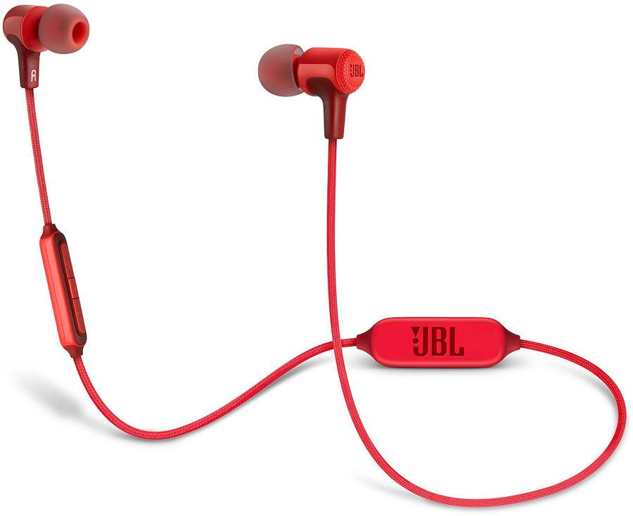 Наушники с микрофоном JBL E25BT, Bluetooth, вкладыши, красный [jble25btred]