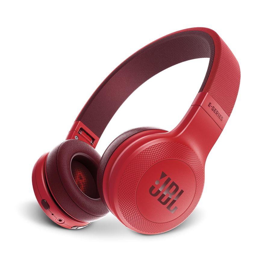 Наушники с микрофоном JBL E45BT, 3.5 мм/Bluetooth, накладные, красный [jble45btred]