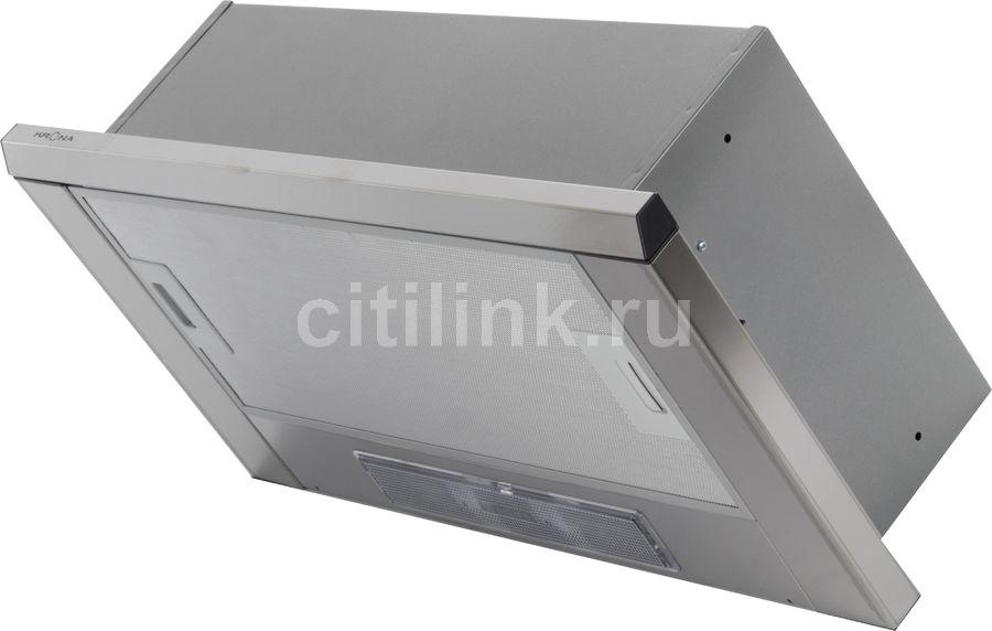 Вытяжка встраиваемая Krona Kamilla 600 slim нержавеющая сталь управление: кнопочное (1 мотор)
