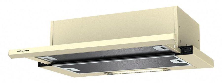 Вытяжка встраиваемая Krona Kamilla 600 slim кремовый управление: кнопочное (1 мотор)
