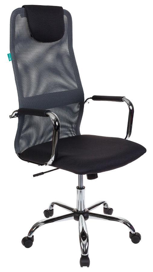 Кресло руководителя БЮРОКРАТ KB-9, на колесиках, сетка, серый [kb-9/dg/tw-12]
