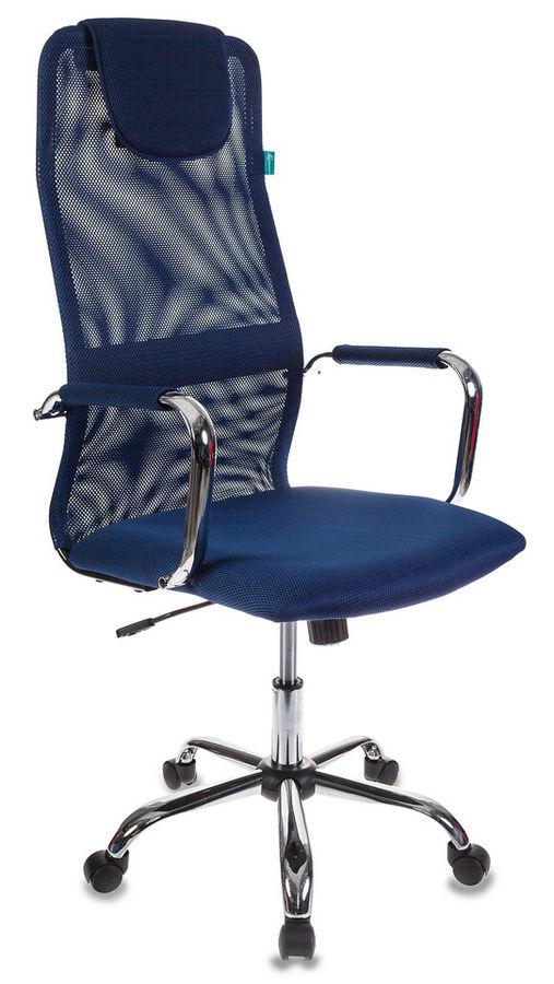 Кресло руководителя БЮРОКРАТ KB-9, на колесиках, сетка, синий [kb-9/db/tw-10n]