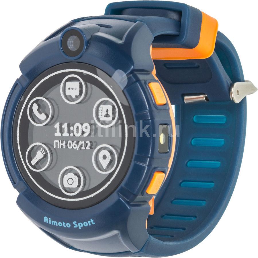 "Смарт-часы КНОПКА ЖИЗНИ Aimoto Sport,  1.44"",  синий / синий [9900104]"