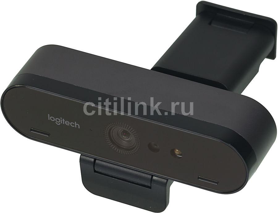 Web-камера LOGITECH Brio,  черный и оранжевый OEM [960-001106]
