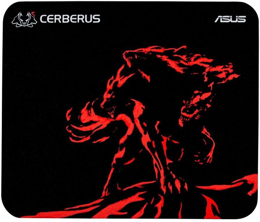 Коврик для мыши ASUS CERBERUS MAT MINI,  черный/красный [90yh01c3-bdua00]