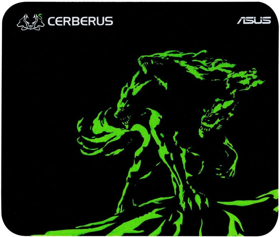 Коврик для мыши ASUS CERBERUS MAT MINI черный/зеленый [90yh01c4-bdua00]