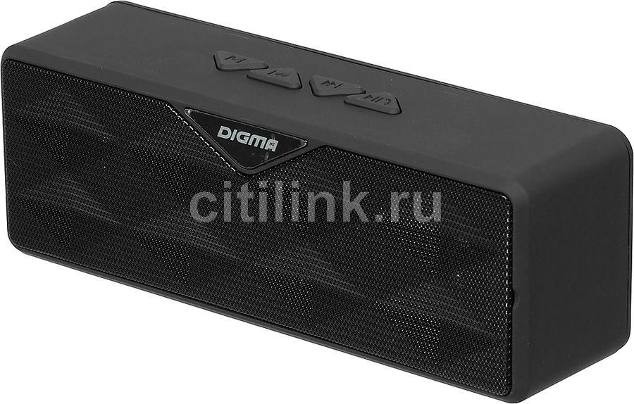 Портативная колонка DIGMA S-30,  6Вт, черный  [sp306b]