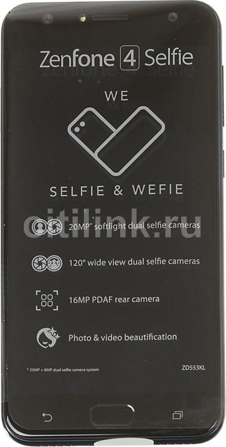 """Смартфон Asus ZenFone ZF4 Selfie ZD553KL 64Gb черный моноблок 3G 4G 2Sim 5.5"""" IPS  (отремонтированный)"""