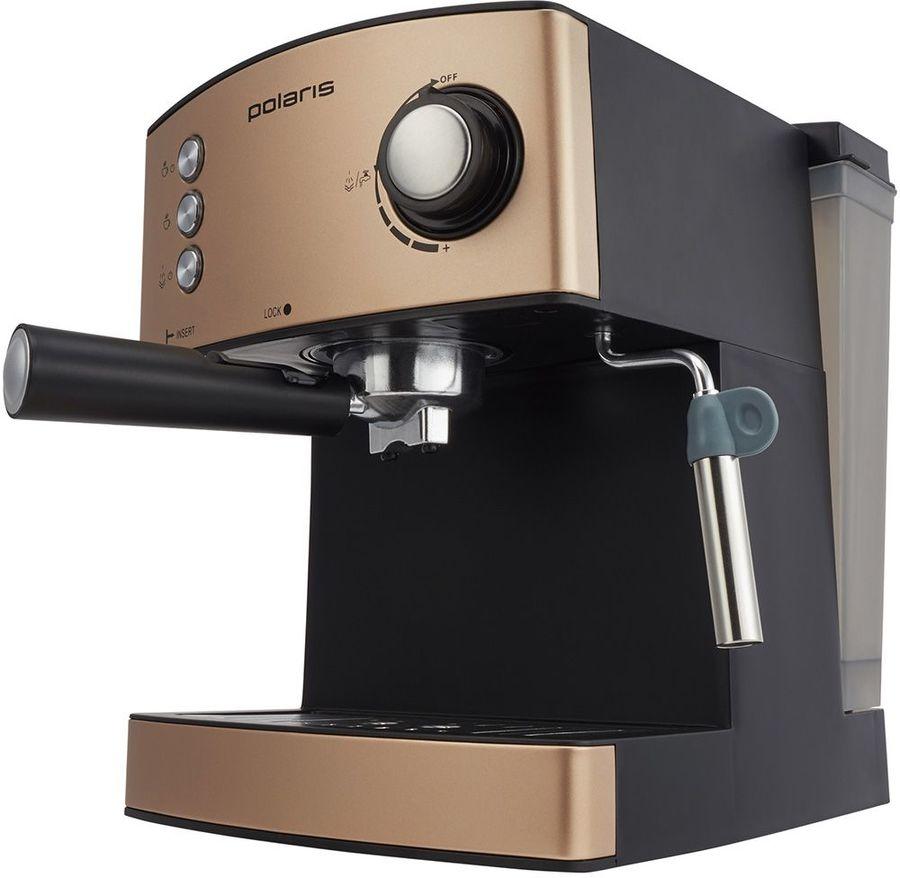 Кофеварка POLARIS PCM 1527E Adore Crema,  эспрессо,  бронзовый  / черный