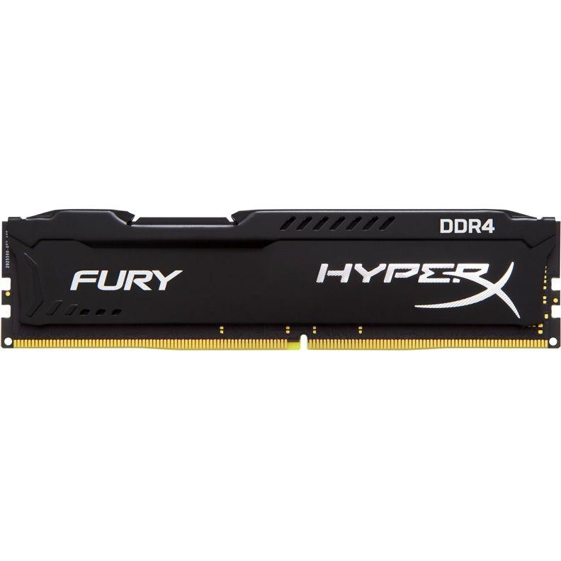 Модуль памяти KINGSTON HyperX FURY Black HX424C15FB/16 DDR4 -  16Гб 2400, DIMM,  Ret