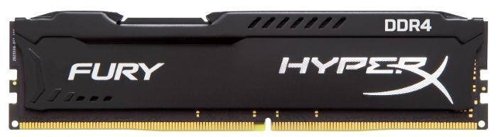 Модуль памяти KINGSTON HyperX FURY Black HX424C15FBK2/8 DDR4 - 2x 4Гб 2400, DIMM, Ret модуль памяти kingston hyperx fury black hx313c9fbk2 8 ddr3 2x 4гб 1333 dimm ret