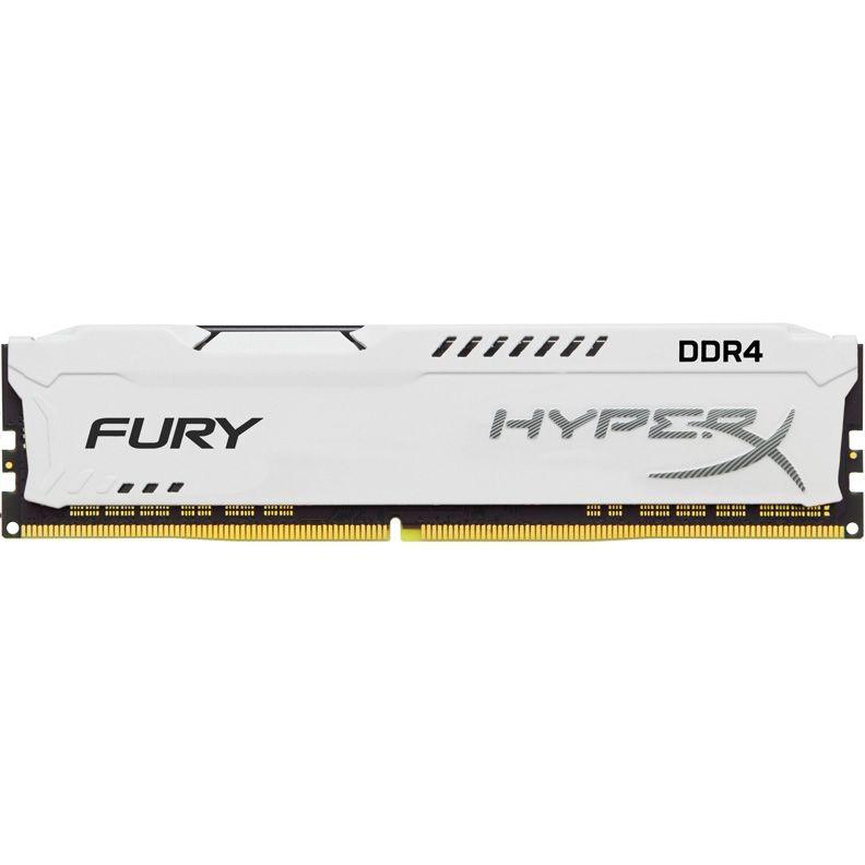 Модуль памяти KINGSTON HyperX FURY White Series HX424C15FW/16 DDR4 -  16Гб 2400, DIMM,  Ret
