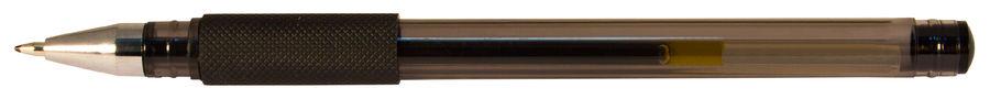 Ручка гелевая Silwerhof ADVANCE (026158-02) 0.5мм резиновая манжета черные чернила коробка картонная