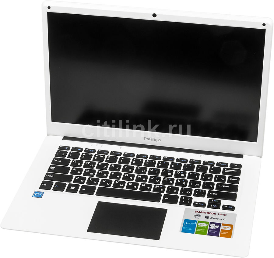 Ноутбук PRESTIGIO SmartBook 141C, 14.1, Intel Atom X5 Z8350 1.44ГГц, 2Гб, 32Гб SSD, Intel HD Graphics 400, Windows 10 Home, PSB141C01BFH_WH_CIS, белый ноутбук трансформер hp x2 detachable 10 p002ur 10 1 intel atom x5 z8350 1 44ггц 2гб 32гб ssd intel hd graphics 400 windows 10 белый [y5v04ea]