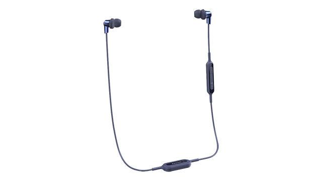 Наушники с микрофоном PANASONIC RP-NJ300BGC, Bluetooth, вкладыши, синий [rp-nj300bgca]