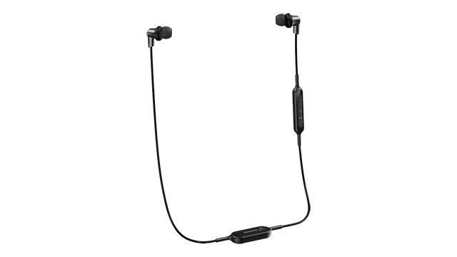 Наушники с микрофоном PANASONIC RP-NJ300BGC, Bluetooth, вкладыши, черный [rp-nj300bgck]