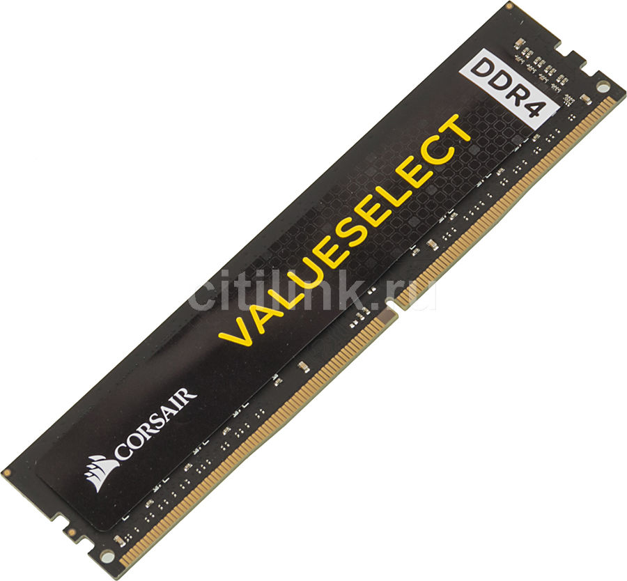 Модуль памяти CORSAIR Value Select CMV16GX4M1A2666C18 DDR4 -  16Гб 2666, DIMM,  Ret