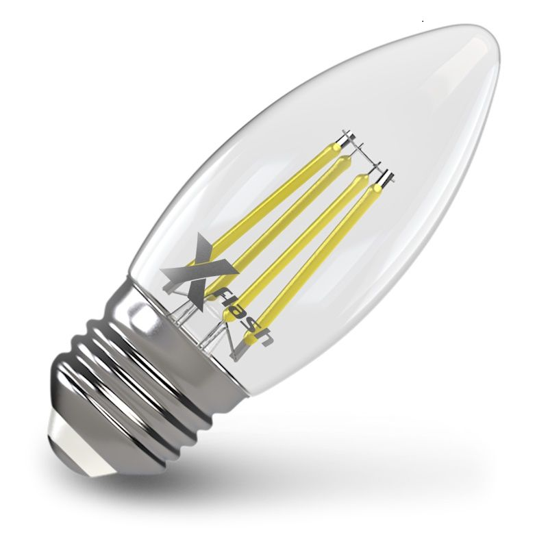 Лампа X-FLASH XF-E27-FL-С35, 4Вт, 480lm, 10000ч,  4000К, E27,  10 шт. [48878/10]