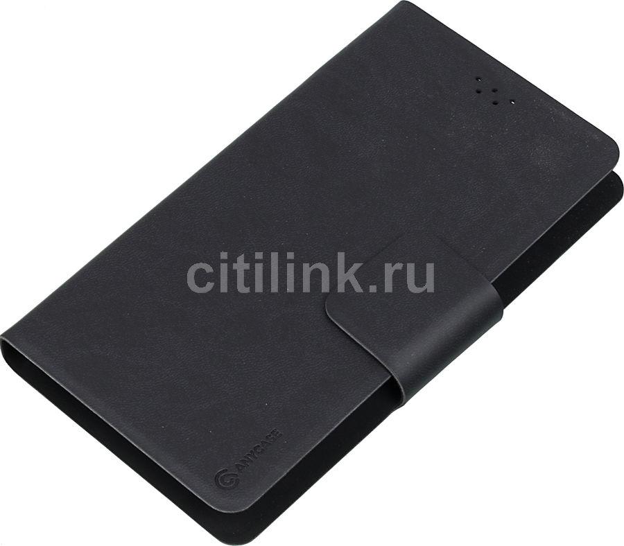 """Чехол (флип-кейс) DEPPA Anycase Wallet, для универсальный 5.5-6.5"""", черный [140006]"""