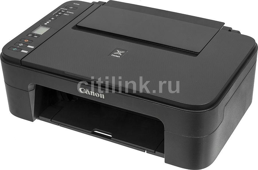 МФУ струйный CANON Pixma TS3140, A4, цветной, струйный, черный [2226c007]