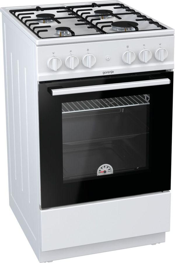 Газовая плита GORENJE GN5111WH,  газовая духовка,  белый