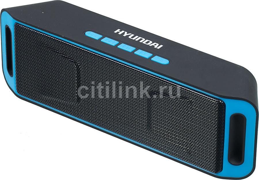 Портативная колонка HYUNDAI H-PAC140,  6Вт, черный  / синий