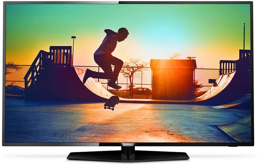 LED телевизор PHILIPS 49PUT6162/60 R, 49, Ultra HD 4K (2160p), черный телевизор philips 32pht4100 60 hd pmr 100 черный