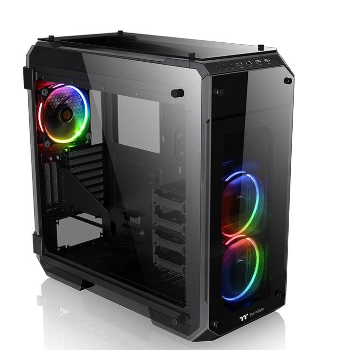 Корпус ATX THERMALTAKE View 71 TG RGB, Full-Tower, без БП,  черный