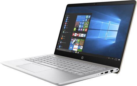 "Ноутбук HP Pavilion 14-bf020ur, 14"", Intel  Pentium  4415U 2.3ГГц, 4Гб, 128Гб SSD,  Intel HD Graphics  610, Windows 10, 2PV80EA,  золотистый"