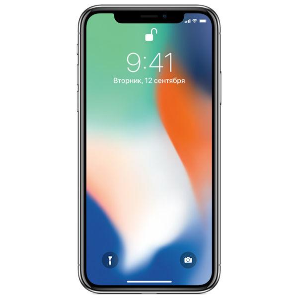 Смартфон APPLE iPhone X 256Gb,  MQAG2RU/A,  серебристый