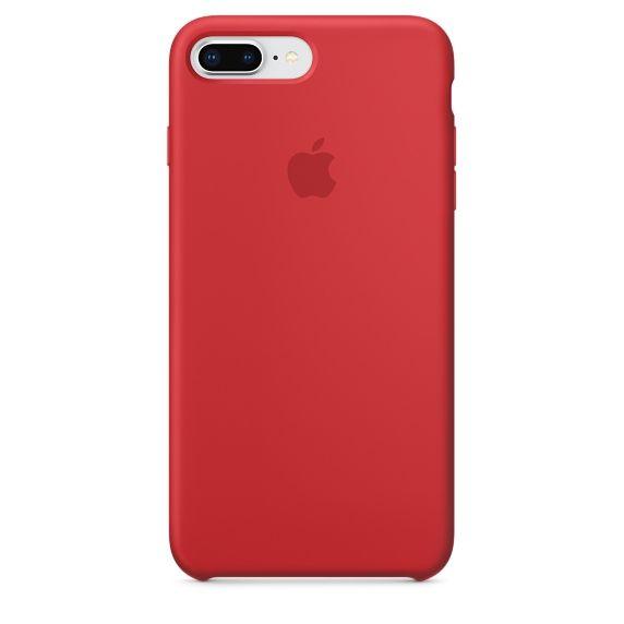 Чехол (клип-кейс) APPLE Silicone Case, для Apple iPhone 7 Plus/8 Plus, красный [mqh12zm/a]