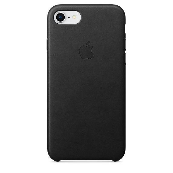 Чехол (клип-кейс) APPLE Leather Case, для Apple iPhone 7/8, черный [mqh92zm/a]