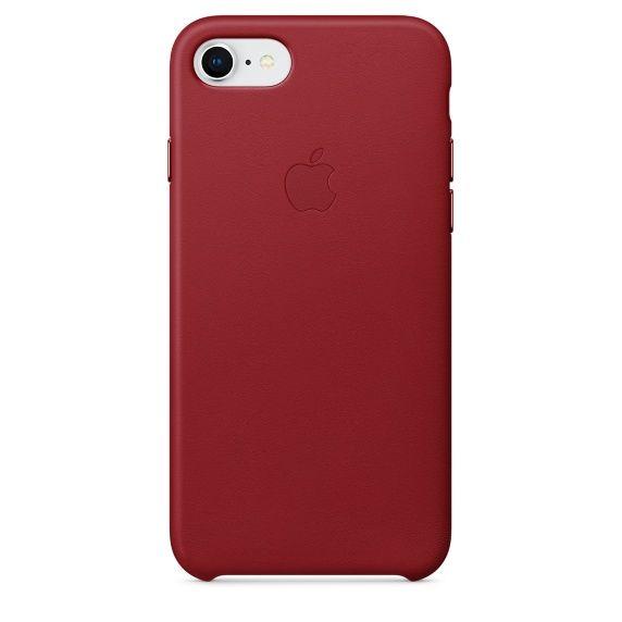 Чехол (клип-кейс) APPLE Leather Case, для Apple iPhone 7/8, красный [mqha2zm/a]