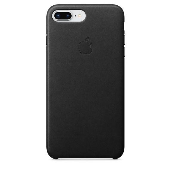 Чехол (клип-кейс) APPLE Leather Case, для Apple iPhone 7 Plus/8 Plus, черный [mqhm2zm/a]