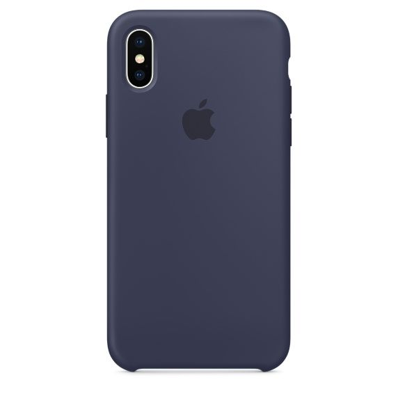Чехол (клип-кейс) APPLE MQT32ZM/A, для Apple iPhone X, темно-синий apple чехол клип кейс apple для apple iphone 7 mmy52zm a черный