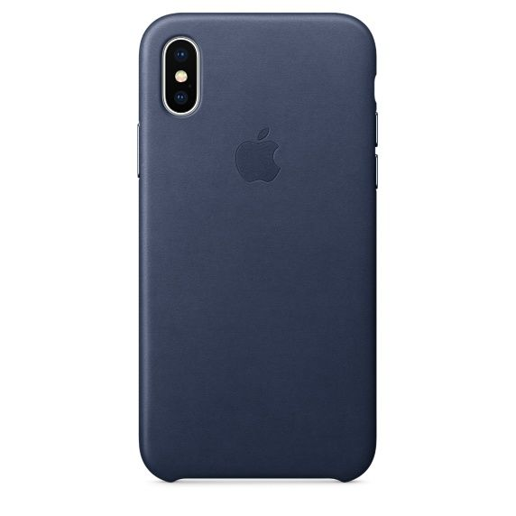 Чехол (клип-кейс) APPLE MQTC2ZM/A, для Apple iPhone X, темно-синий apple чехол клип кейс apple для apple iphone 7 mmy52zm a черный