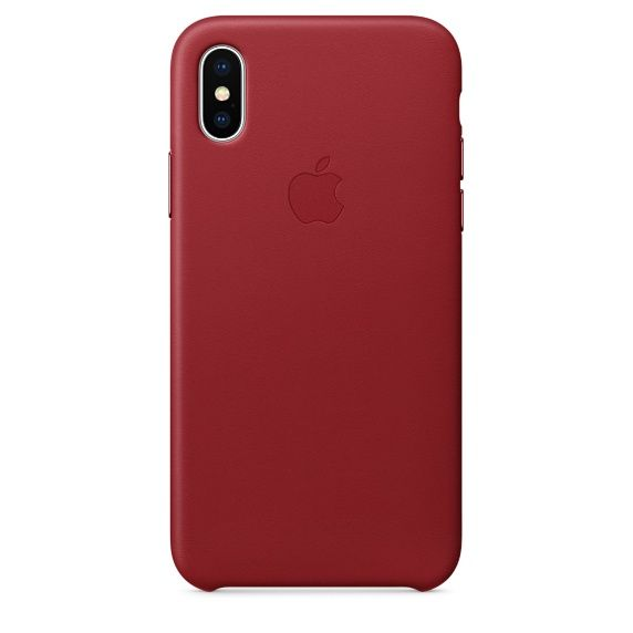 Чехол (клип-кейс) APPLE MQTE2ZM/A, для Apple iPhone X, красный apple чехол клип кейс apple для apple iphone 7 mmy52zm a черный