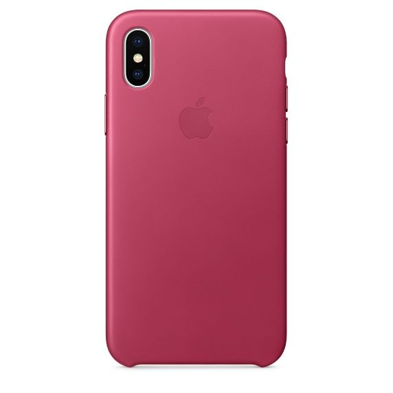 Чехол (клип-кейс) APPLE MQTJ2ZM/A, для Apple iPhone X, розовый