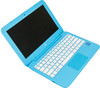 "Ноутбук HP Stream 11-y011ur, 11.6"", Intel  Celeron  N3060 1.6ГГц, 4Гб, 32Гб SSD,  Intel HD Graphics  400, Windows 10, 2EQ25EA,  голубой вид 3"