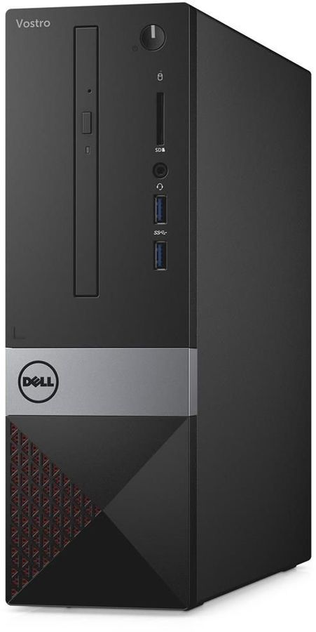 Компьютер DELL Vostro 3268, Intel Core i5 7400, DDR4 4Гб, 1000Гб, Intel HD Graphics 630, DVD-RW, CR, Linux, черный [3268-4841] ноутбук dell vostro 3558 15 6 1366x768 intel pentium 3825u 500 gb 4gb intel hd graphics черный linux 3558 4483